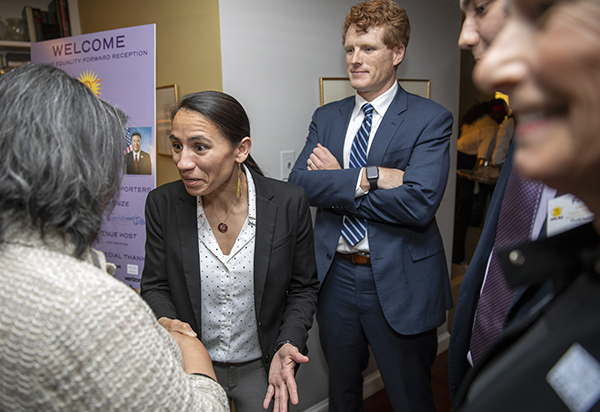 Sharice Davids and Joe Kennedy