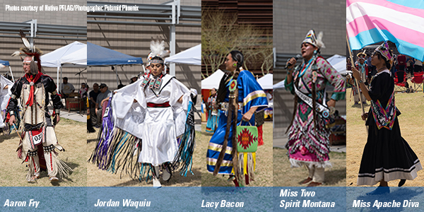 Series of photos from Native PFLAG Two Spirit Powwow