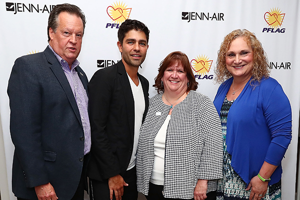 Brian Maynard of Jenn-Air, Adrian Grenier, Beth Kohm, and Stephanie Battaglino