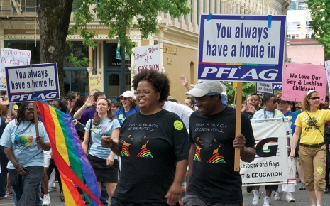 PFLAG members celebrating an inclusive pride.